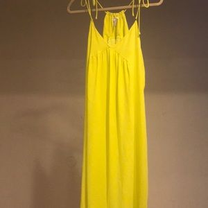 Beautiful lime green Yellowish summer dress